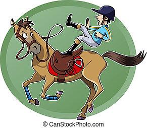 lovas, ló, esés, övé