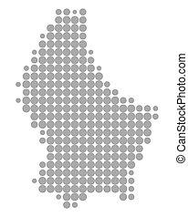 luxemburg, térkép