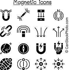 mágnes, állhatatos, ikon
