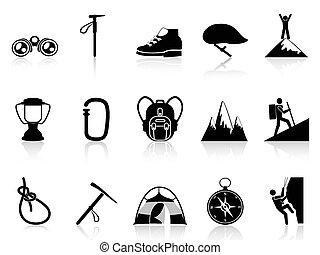 mászó, hegy, állhatatos, ikonok