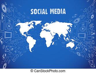 média, ábra, társadalmi