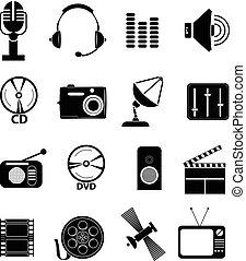 média, állhatatos, ikonok
