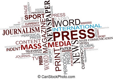 média, újságírás, felhő, nappal