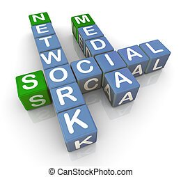 média, 3, hálózat, társadalmi