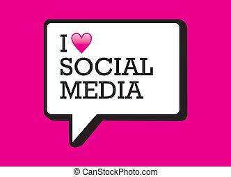 média, buborék, szeret, társadalmi