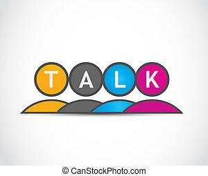 média, csoport, beszél, társadalmi