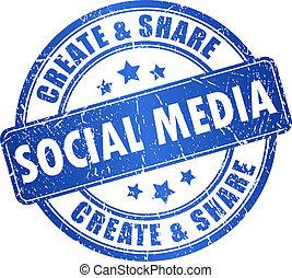 média, jelkép, vektor, társadalmi