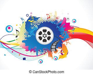 média, színes, felrobban, elvont