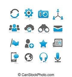 média, társadalmi, ikon