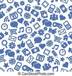 média, társadalmi, seamless, példa