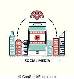 média, tervezés, társadalmi