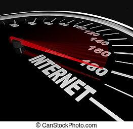 mérés, háló, statisztika, -, magas, forgalom, internet gyorsul, vagy