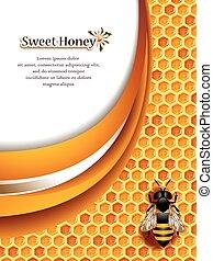 méz, háttér, elvont