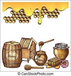 méz, skicc, állhatatos