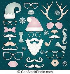 mód, állhatatos, árnykép, színes, mód, csípőre szabott, karácsony
