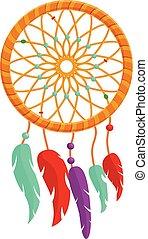 mód, álmodik, színes, ikon, fogójátékos, karikatúra