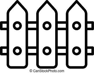 mód, áttekintés, kerítés, három, ikon, csúcs