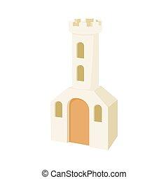 mód, épület, templom, karikatúra, ikon