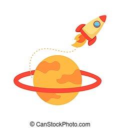 mód, űrhajó, rakéta, szaturnusz, katapultszerkezet, lakás, ikon