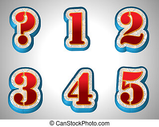 mód, abc, nagy, betűtípus, piros, 3