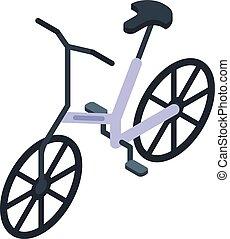 mód, elektromos, bicikli, ikon, isometric