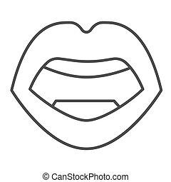 mód, háttér, ajkak, fehér, ikon, design., graphics., vektor, fogalom, emberi hulla, ikon, mozgatható, fogalom, egyenes, aláír, áttekintés, száj, híg, szexi, háló, nyílik