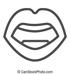 mód, háttér, ajkak, fehér, ikon, design., graphics., vektor, fogalom, emberi hulla, ikon, mozgatható, fogalom, egyenes, aláír, áttekintés, száj, szexi, háló, nyílik