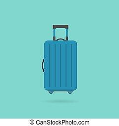 mód, ikon, táska, lakás, utazás
