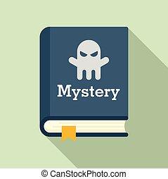 mód, könyv, ikon, rejtély, lakás, öreg