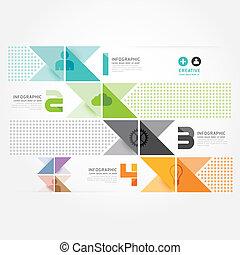 mód, lenni, vagy, konzerv, minimális, modern, template., website, .graphic, infographics, vektor, infographic, tervezés, használt, alaprajz