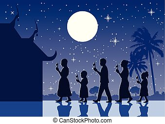 mód, leszállt, jár, buddhista, gyertya, kiegyenlít, halánték, vallás, respektál, mindenfelé, hit, kéz, tradíció, árnykép