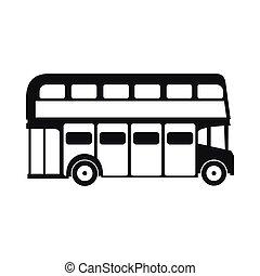 mód, london, decker, megkettőz, egyszerű, autóbusz, ikon