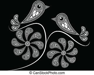 mód, madarak, etnikai