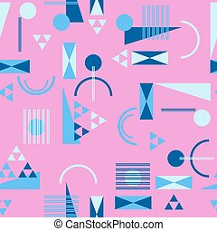 mód, motívum, seamless, retro, 80, geometriai