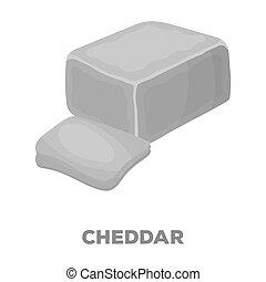 mód, részvény, raster, cheddar., jelkép, különböző, fekete, web., ábra, ikon, sajt, egyedülálló, bitmap, kinds