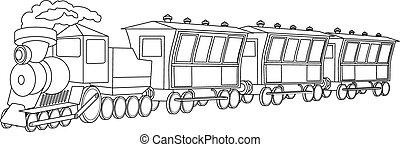 mód, szüret, locomotive.