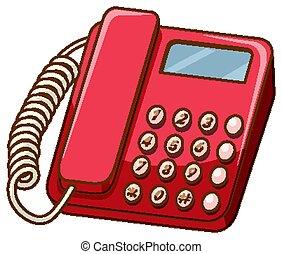 mód, telefon, öreg, white háttér