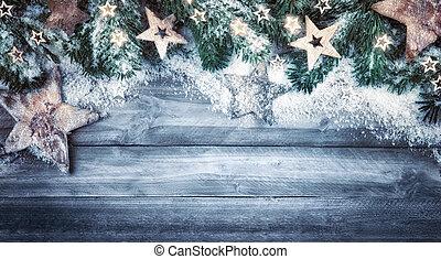 mód, természetes, befest, háttér, karácsony, friss