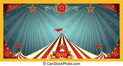 móka, cirkusz, transzparens