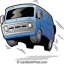 móka, furgon