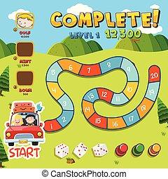 móka, sablon, boardgame