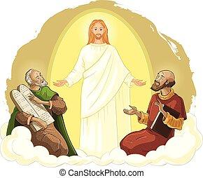 mózes, transfiguration, krisztus, illés, jézus