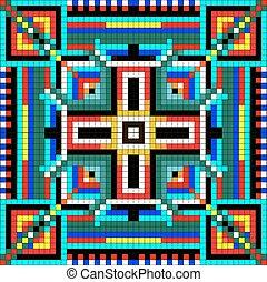 mózesi, színezett, geometriai, blokkok, seamless, díszítés