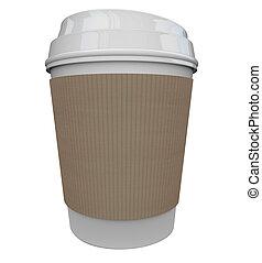 műanyag, kávécserje, feketekávé, hely, csésze, ital, koffein, reggel, tiszta, másol