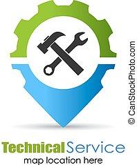 műszaki, szolgáltatás, elhelyezés, gombostű