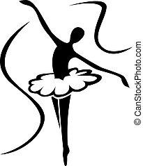 művészet, balett, árnykép
