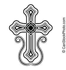 művészet, csíptet, apostoli, kereszt, hagyományos, örmény, templom