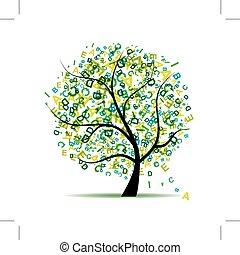 művészet, fa, tervezés, irodalomtudomány, zöld, -e