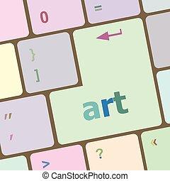 művészet, gombol, ábra, vektor, kulcs, billentyűzet computer