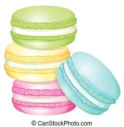macaron, kazal, színes